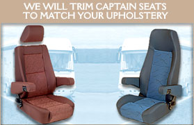 We will trim Captain seats to match your upholstery